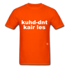 Couldn't Care Less T-Shirt - orange