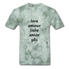 Love in Five Languages - military green tie dye