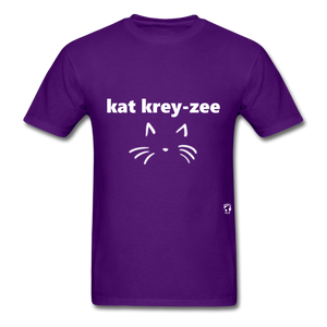Cat Crazy T-Shirt - purple