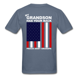 Proud Army Grandpa Red White and Blue T-Shirt - denim