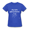 I Love Unicorns T-Shirt - royal blue