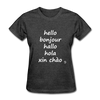 Hello in Five Languages T-Shirt - heather black