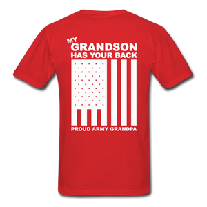 Army Grandpa T-Shirt - red