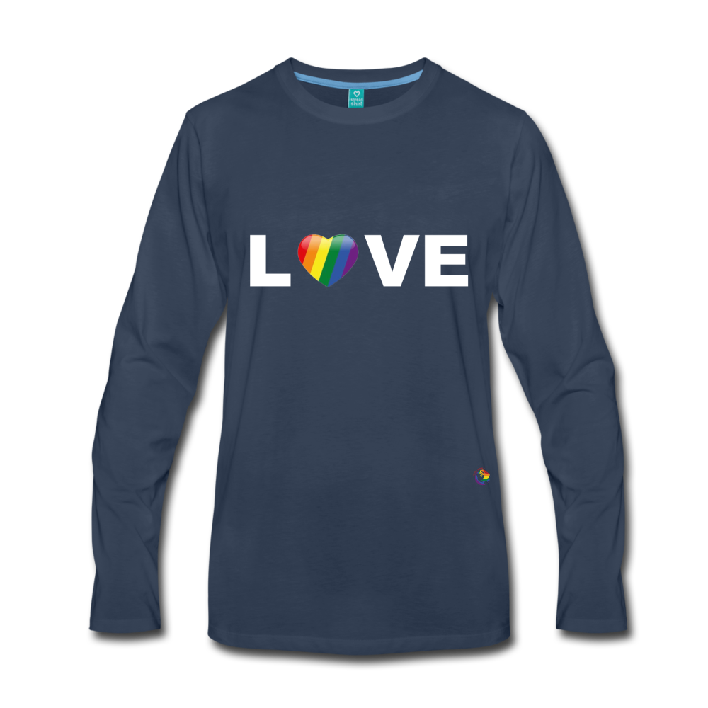 Rainbow Love Long Sleeve T-Shirt - navy