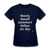 Beauty in Five Languages T-Shirt - navy