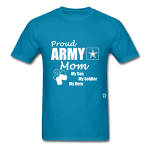 Proud Army Mom T-Shirt - turquoise