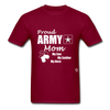 Proud Army Mom T-Shirt - burgundy