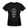Love in Five Languages T-Shirt - black