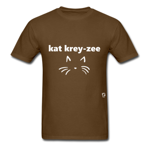 Cat Crazy T-Shirt - brown