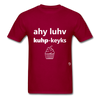 I Love Cupcakes T-Shirt - dark red