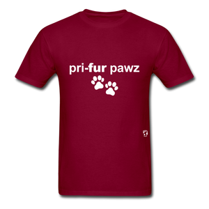 Prefer Paws T-Shirt - burgundy