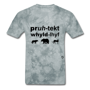 Protect Wildlife T-Shirt - grey tie dye