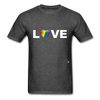 Love T-Shirt - heather black