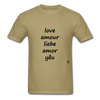 Love in Five Languages - khaki