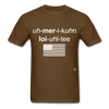American Loyalty T-Shirt - brown