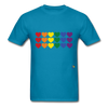 Rainbow Hearts T-Shirt - turquoise