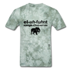 Elephant Sanctuary T-Shirt - military green tie dye