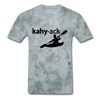 Kayak T-Shirt - grey tie dye