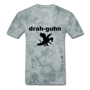 Dragon T-Shirt - grey tie dye