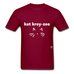 Cat Crazy T-Shirt - burgundy