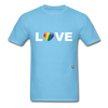 Love T-Shirt - aquatic blue