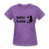 Love Cats T-Shirt - purple heather