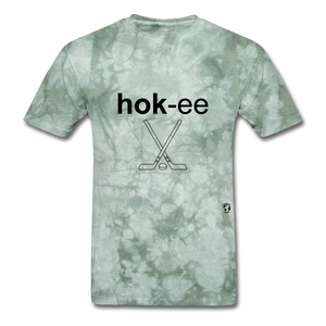Hockey T-Shirt - military green tie dye