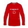 Espresso Long Sleeve T-Shirt - red