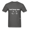 Cat Crazy T-Shirt - charcoal