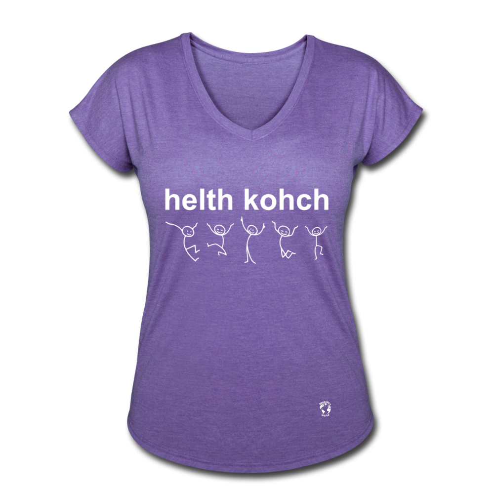 Health Coach Women's Tri-Blend V-Neck T-Shirt - purple heather