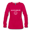 Optimistic Long Sleeve T-Shirt - dark pink