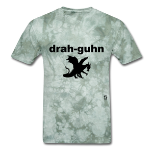Dragon T-Shirt - military green tie dye