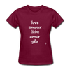 Love in Five Languages T-Shirt - burgundy