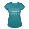 Health Coach Women's Tri-Blend V-Neck T-Shirt - heather turquoise
