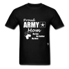 Proud Army Mom T-Shirt - black