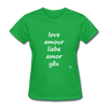 Love in Five Languages T-Shirt - bright green