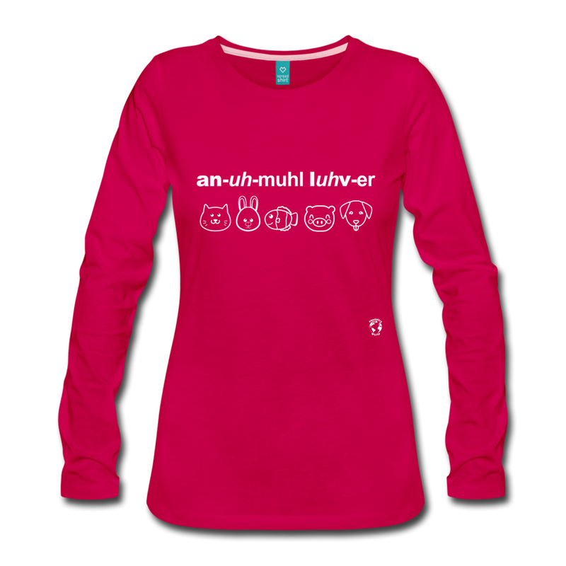 Animal Lover Long Sleeve T-Shirt - dark pink