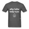I Love Cupcakes T-Shirt - charcoal