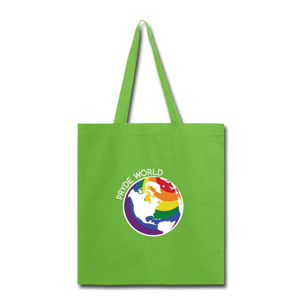 Rainbow Sheep Tote Bag - lime green