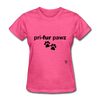 Prefer Paws T-Shirt - heather pink