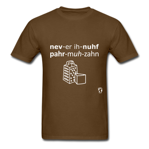 Never Enough Parmesan T-Shirt - brown