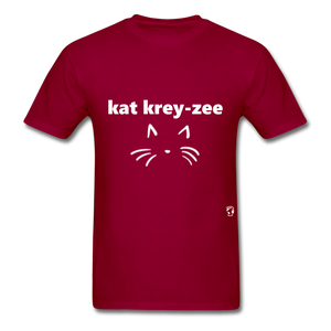 Cat Crazy T-Shirt - dark red