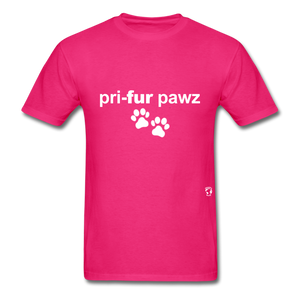 Prefer Paws T-Shirt - fuchsia
