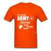 Proud Army Mom T-Shirt - orange