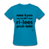 Rescue Rehabilitate Release Protect T-Shirt - turquoise