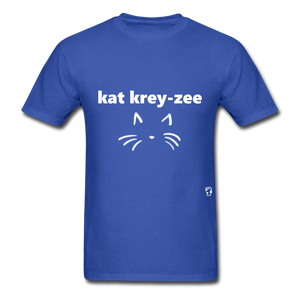 Cat Crazy T-Shirt - royal blue