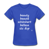 Beauty in Five Languages T-Shirt - royal blue