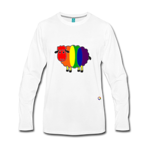 Rainbow Sheep Long Sleeve T-Shirt - white