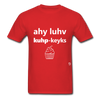 I Love Cupcakes T-Shirt - red