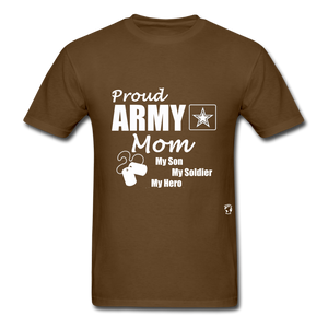 Proud Army Mom T-Shirt - brown